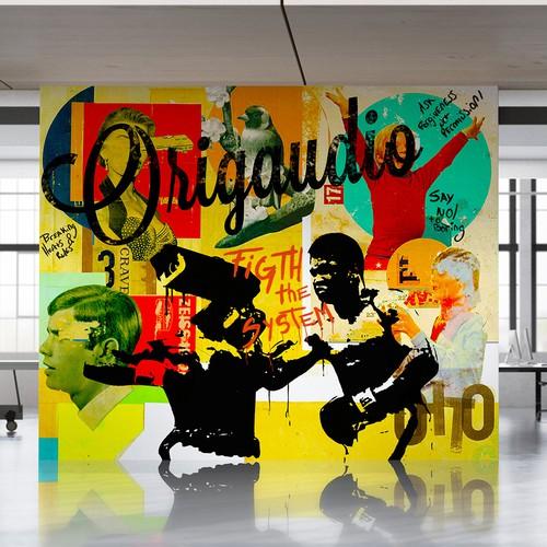 Graffiti mural for art festival.