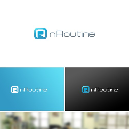 nRoutine Minimal Logo Design
