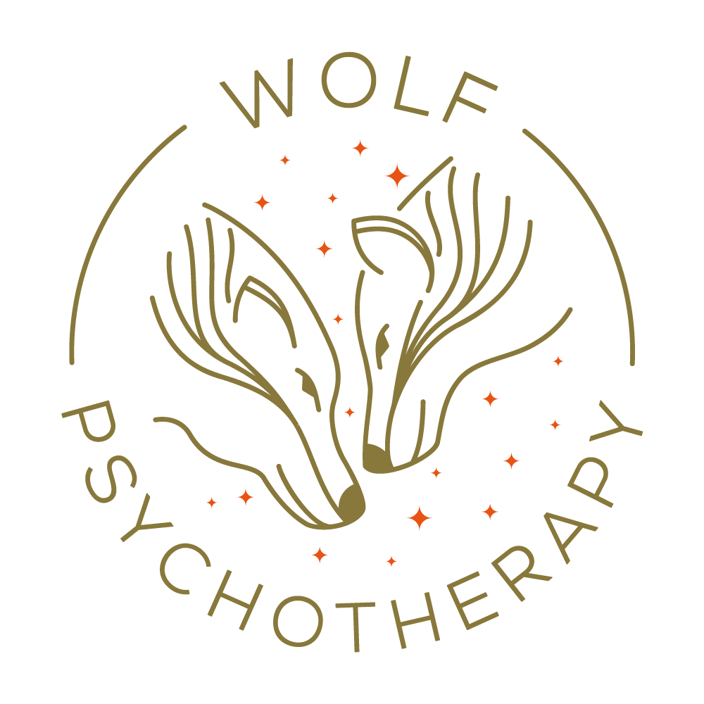 Logo for a young, stylish, LGBTQ+, couples/sex therapist