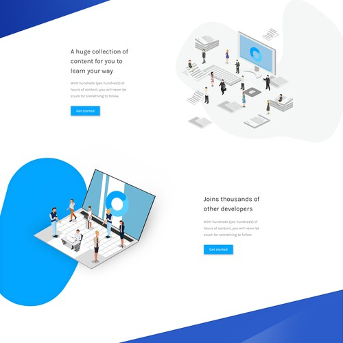 Home page design concept for Codecourse