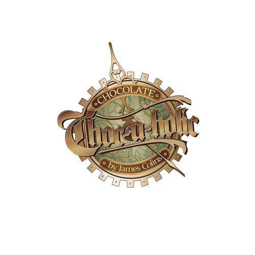 Steam Punk Chocolate shop logo