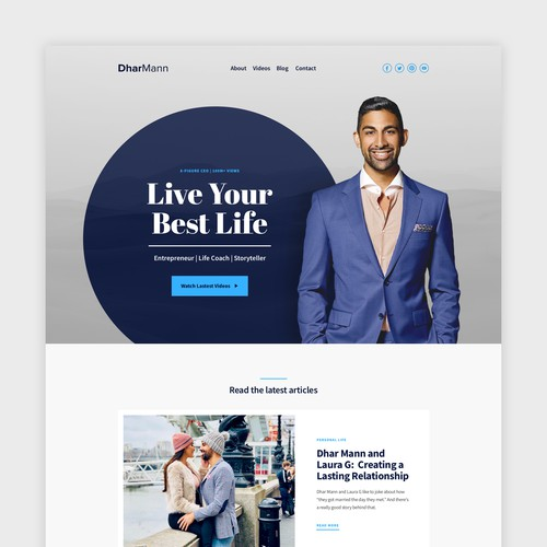 Motivational Speaker Homepage