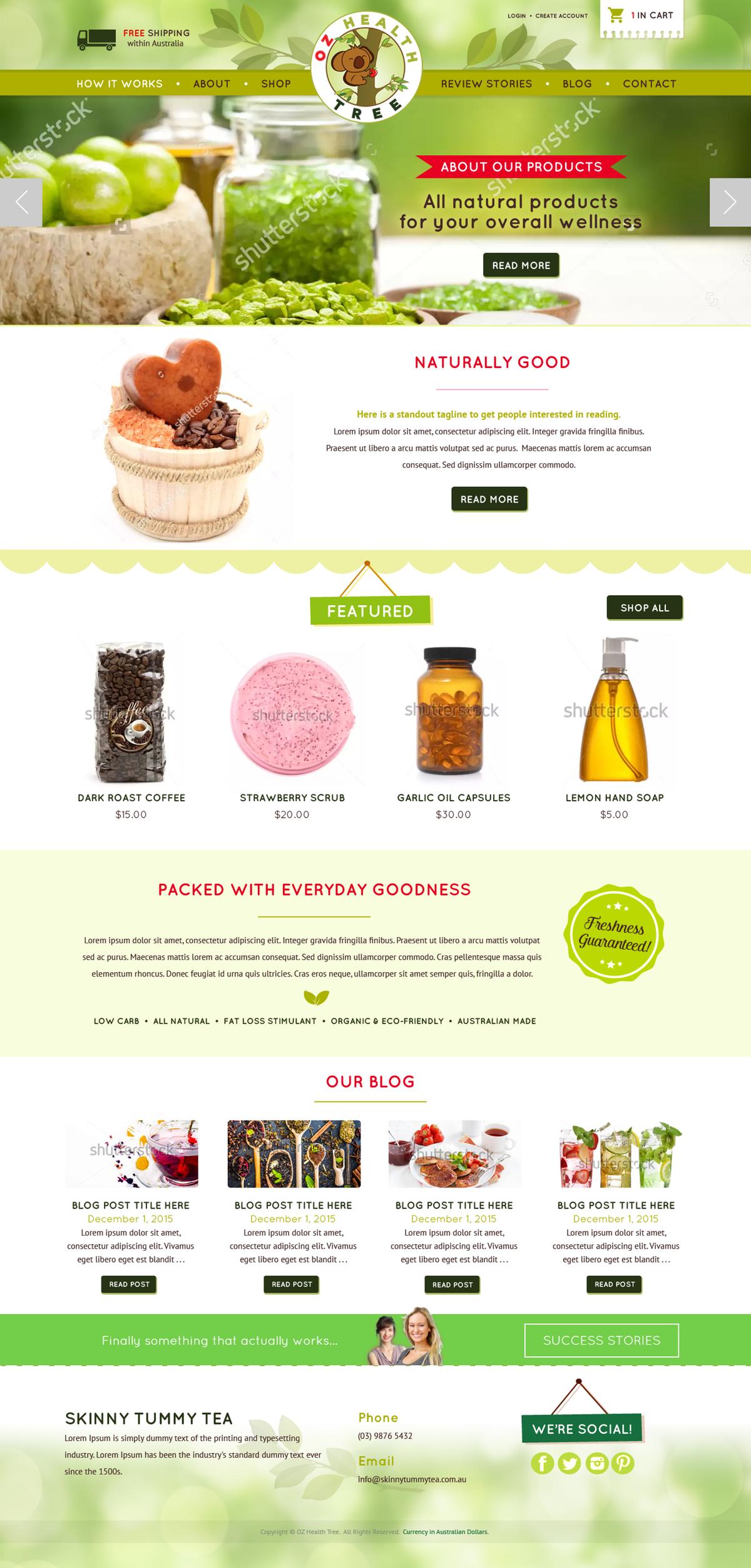 Website Design | Organic Health Site
