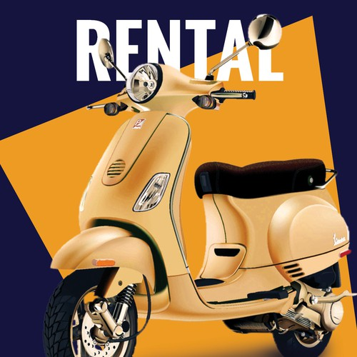 Hourly Scooter Rental Flyer
