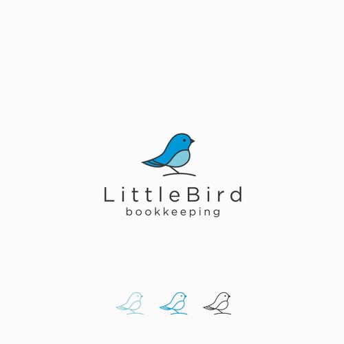 Logo for bookkeeping service