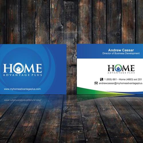 Home Advantage Plus New Business Card