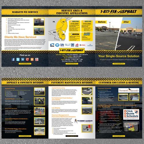 Large Tri-Fold Brochure for FixAsphalt