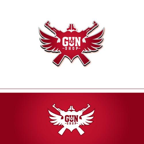 logo for The Gun Shop