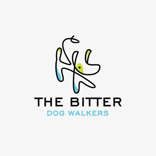 Simple youthful logo for dog walkers
