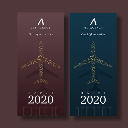 Happy new year design for Jet Agency