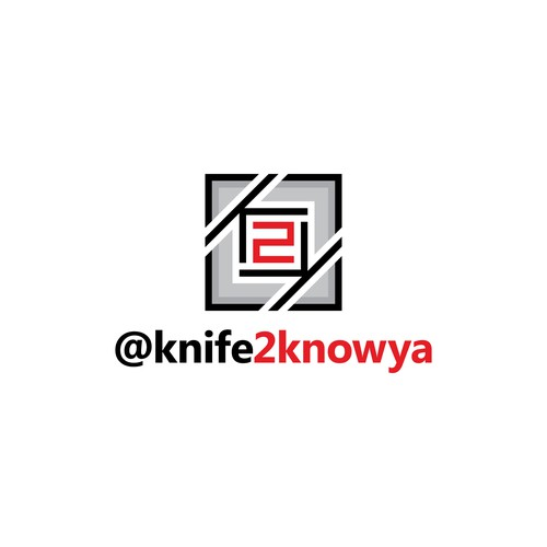 Geometric logo concept for Knife2KnowYa
