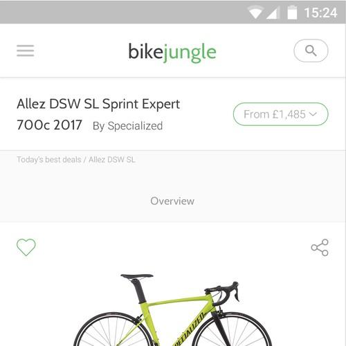 BikeJungle Website Design - Part 3