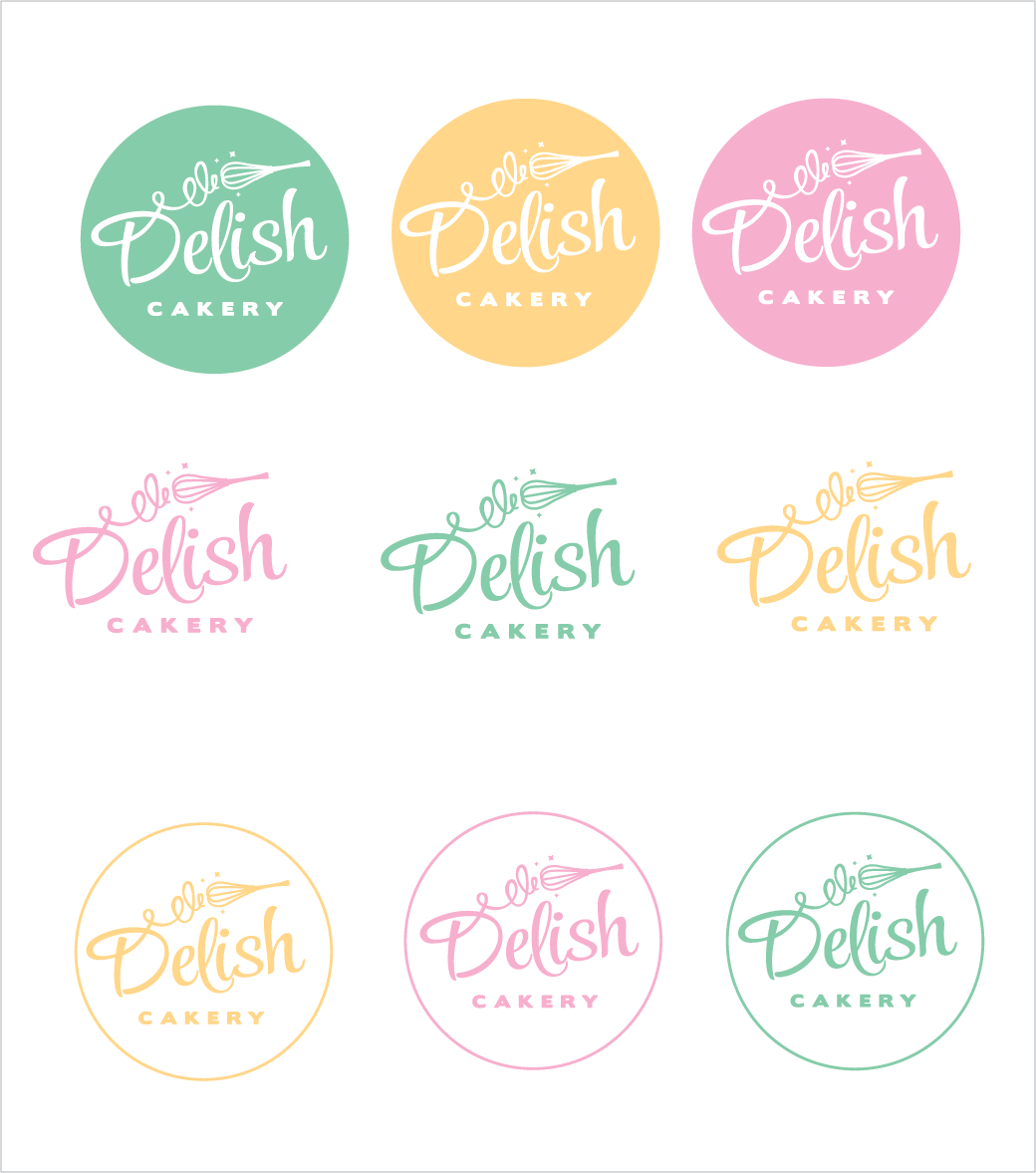 Create an eye catching logo for Delish Cakery!