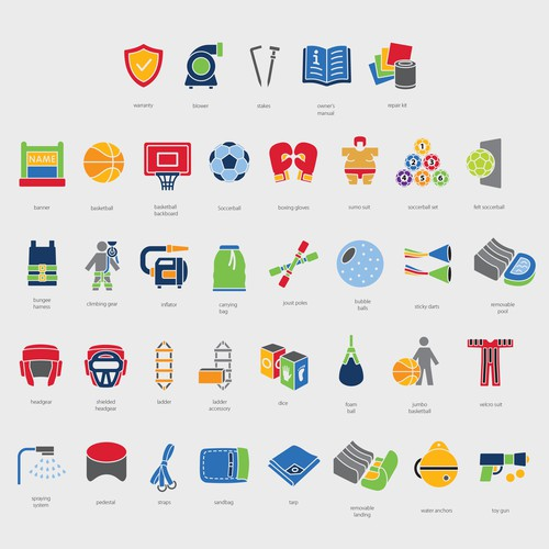 Icons for Magic Jump Website