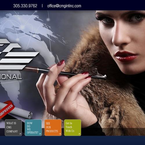 website design for CMG International, Inc.