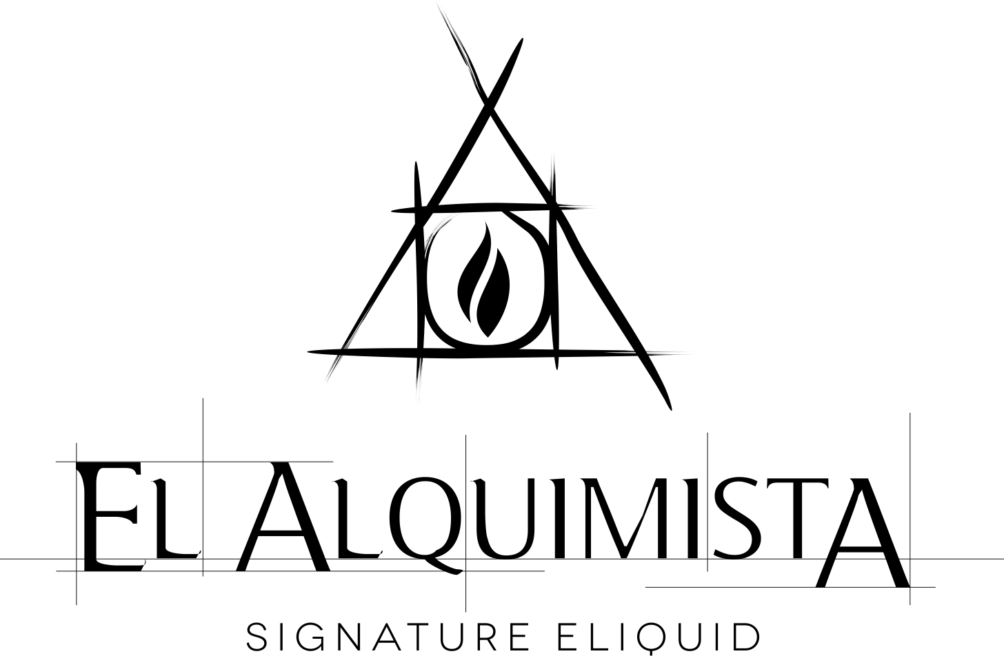 Create a recognizable logo for El Alquimista eLiquids