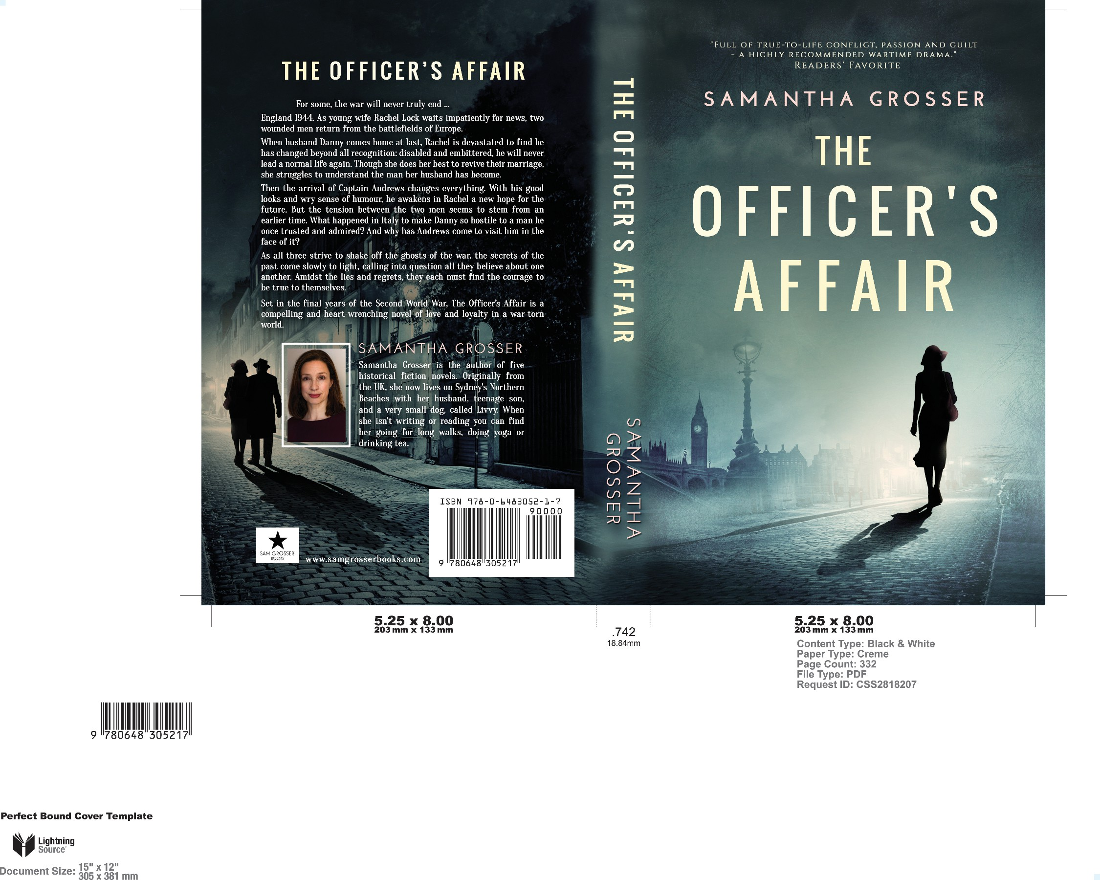 Genre-perfect book cover for World War II drama