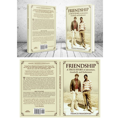 Friendship book cover concept for Francis Mandewah