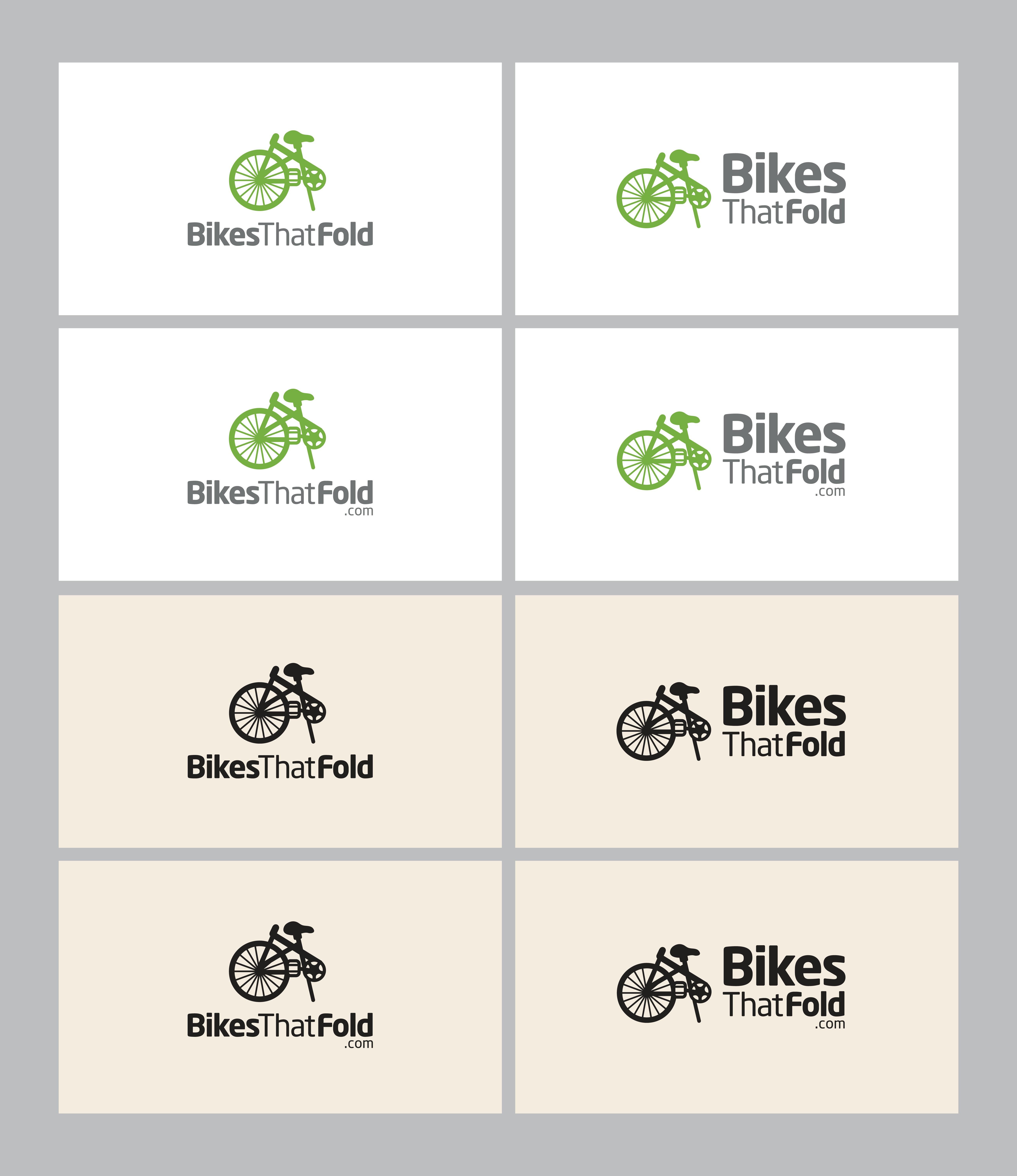 Create a logo for folding bike website