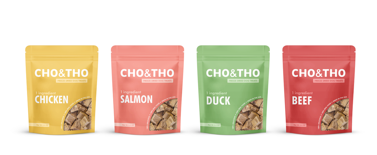Packaging for a dog treat company