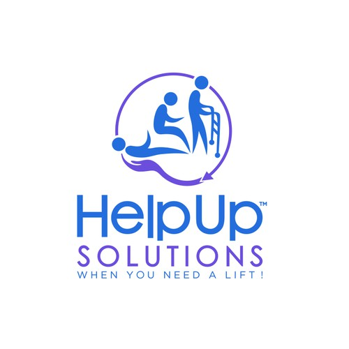 HelpUp Solutions with tm (trademark) next to HelpUp
