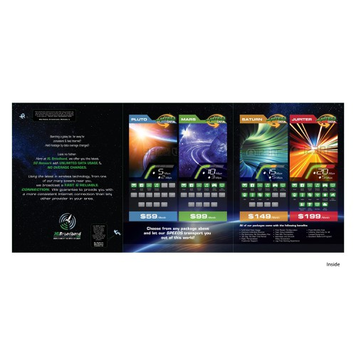 Broadband Internet Brochure w/ Rockets, Astronauts, Planets, and Anything YOU Want!
