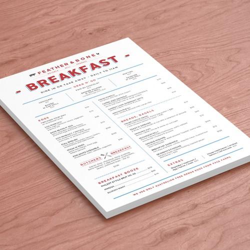 Breakfast Menu Design