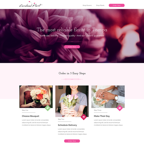 Modern design for one of the US Florists