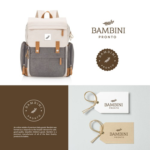 Logo for Bambini Pronto ( online retailer of premium baby goods)
