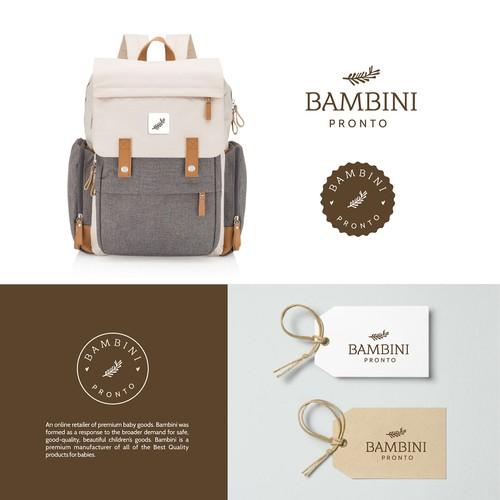 Logo for Bambini Pronto ( online retailer of premium baby goods)