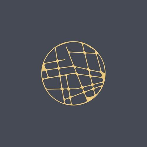 Circular geometric logo for spiritual company
