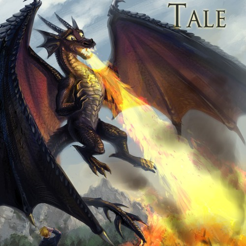 A Dragon's Tale- Childrens book -Competition 1 front cover and 2 illustrated pages with opportunity for One-to-one work