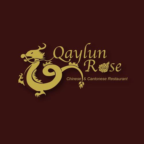 Qaylun Rose Restaurant Logo Concept 3