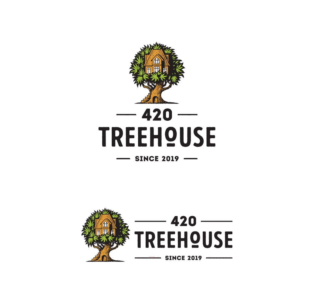 """unique logo one that stands out from the rest"" for our dispensary 420 Treehouse"