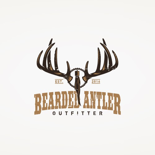 Vintage Antler Logo for an Outfitter Company