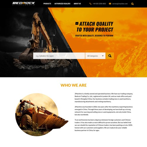 Website Design for Heavy Machinery Company