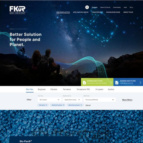 Website redesign for a leading bioplastic specialist
