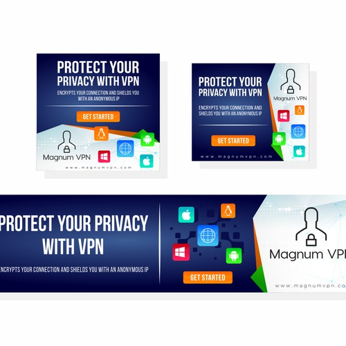Banner ad for magnum vpn