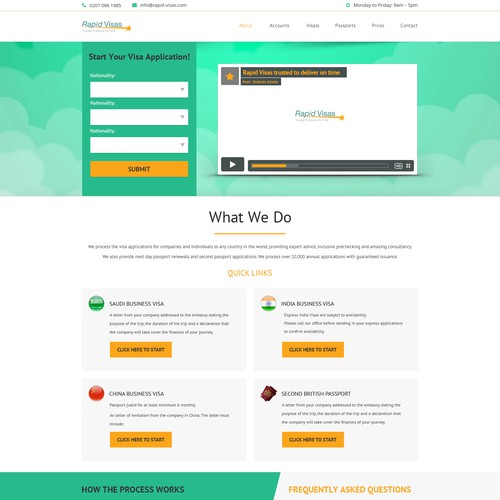 Clear and easy to use and see landing page
