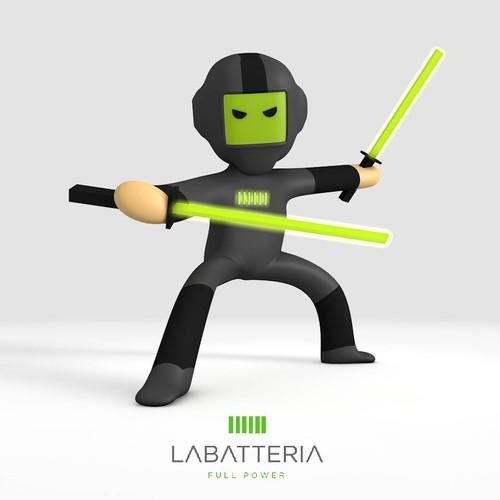ninja 3D character
