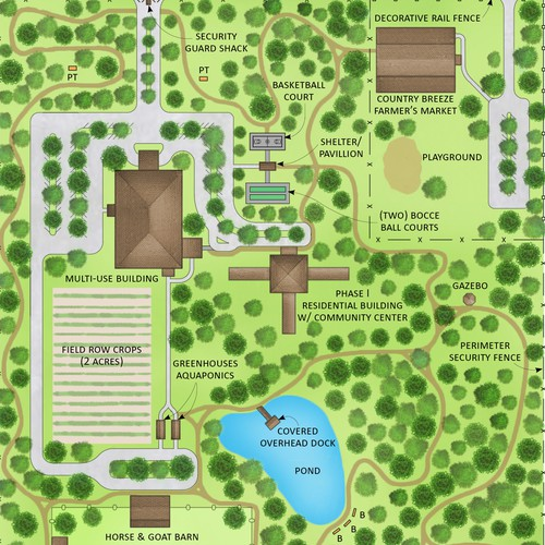 Landscaping map for Country Breeze Farm