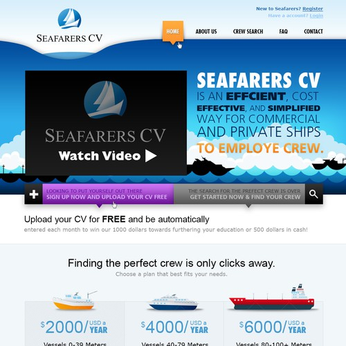 New website design wanted for Seafarers CV
