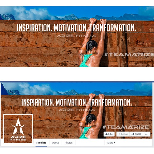 Facebook cover for Arize Fitness