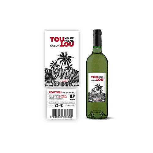 Concept d'étiquette de vin de Palme