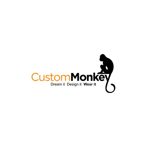 Design for Custom Monkey T-shirt Site