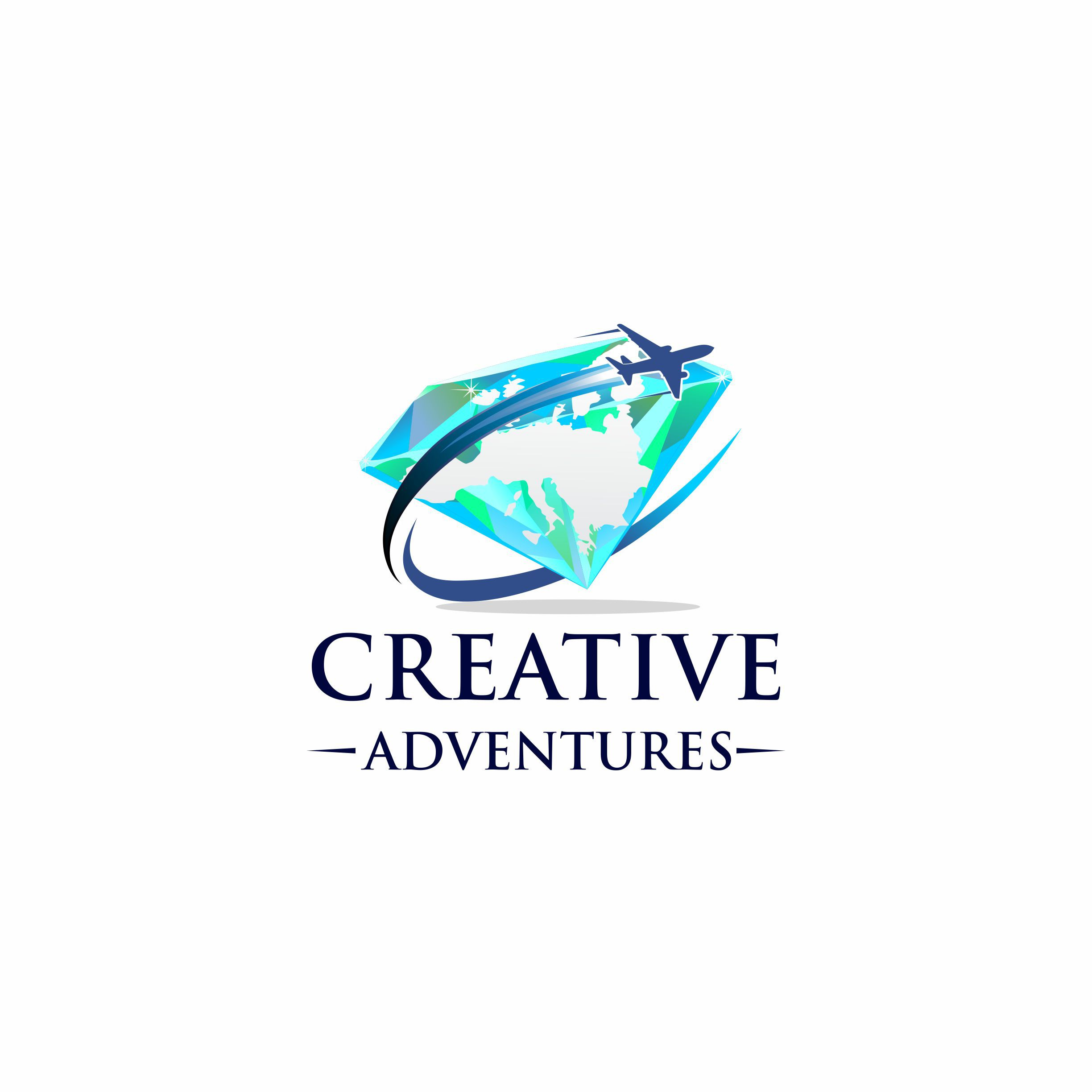 Design a logo shaping the world into a bead for Creative Adventures Tours