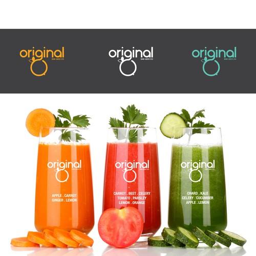Log concept for Original Raw Juice Co.