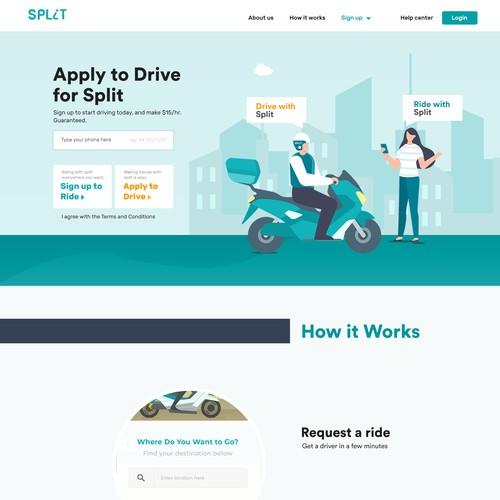 Split Landing page