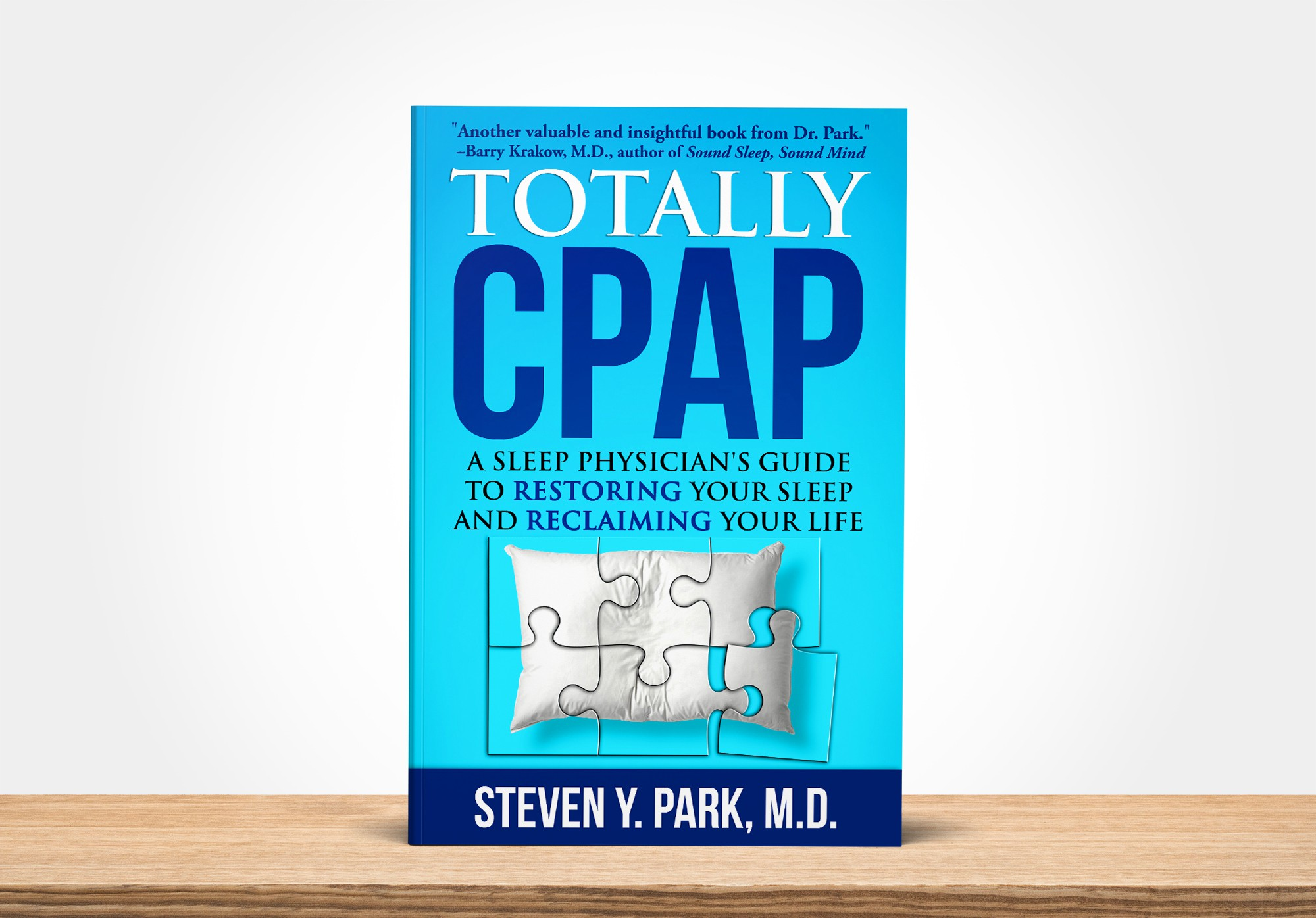 Design a striking book cover for our health book on how to use the CPAP machine