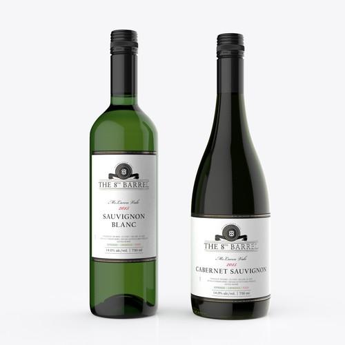 Premium wine label for the 8th Barrel